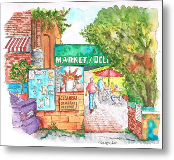 Laurel Canyon Market And Deli In Laurel Canyon, Hollywood Hills, California Metal Print