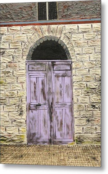 Lavender Door-france Metal Print