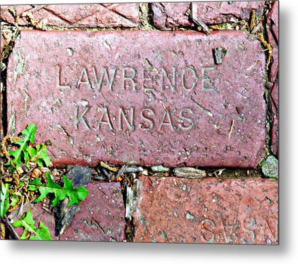 Lawrence Kansas Brick Paver Metal Print