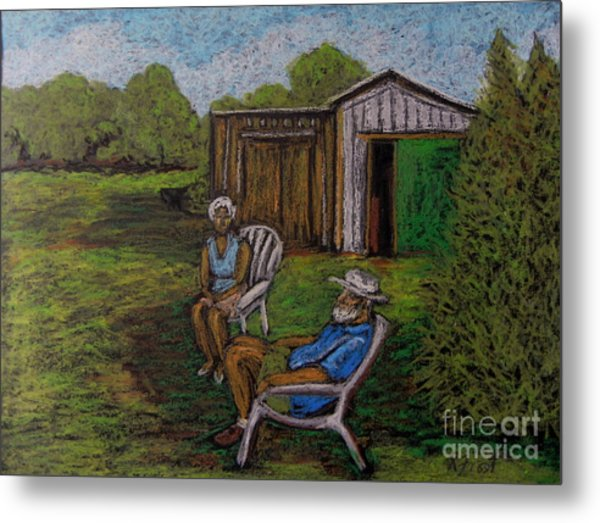 Lazy Day On The Farm Metal Print by Reb Frost