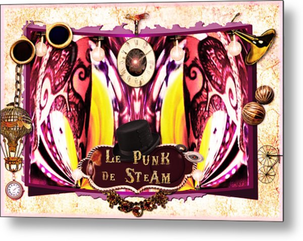 Le Punk De Steam Metal Print