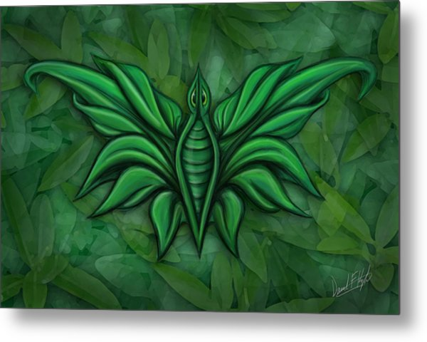 Leafy Bug Metal Print by David Kyte