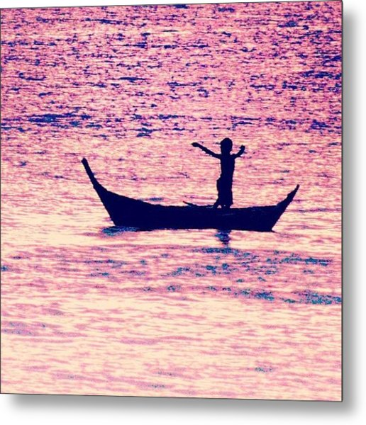 Learning To Fly.. #thailand #boat Metal Print