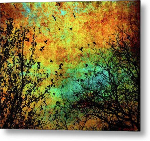 Leaves To Feathers Metal Print