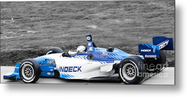 Leaving The Pits Metal Print by Darcy Michaelchuk