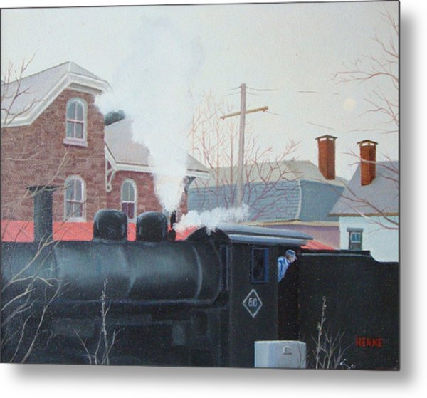 Metal Print featuring the painting Leaving The Station by Robert Henne