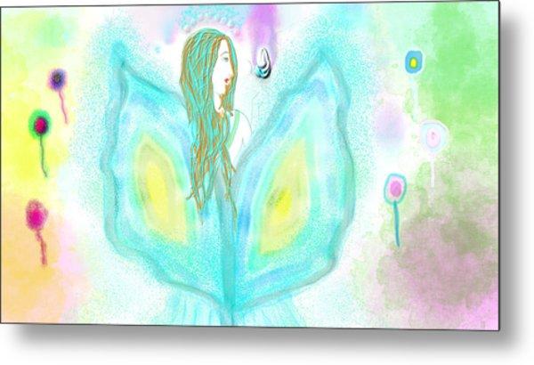 Leelavy Fairy / Fada Leelavy Metal Print by Rosana Ortiz