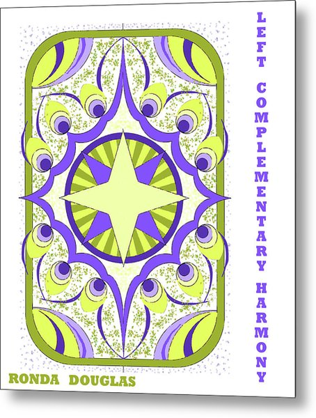 Left Complementary Harmony Metal Print