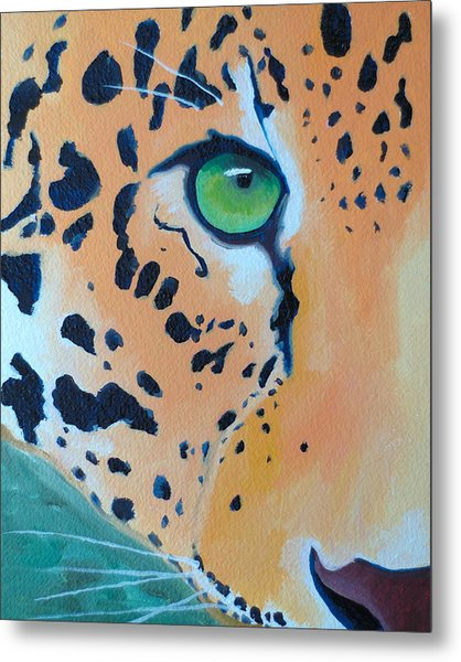 Leopard Eye Metal Print by John  Sweeney