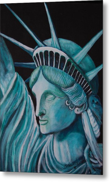 Let Freedom Ring Metal Print by Janna Columbus