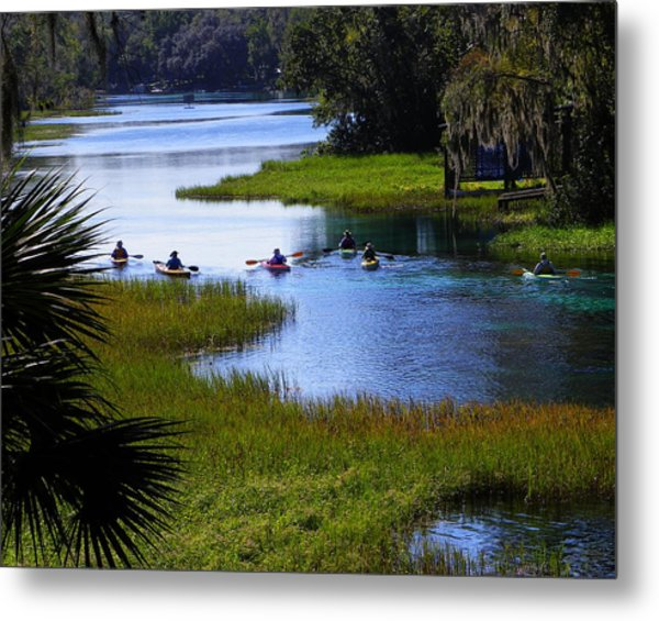 Let's Kayak Metal Print