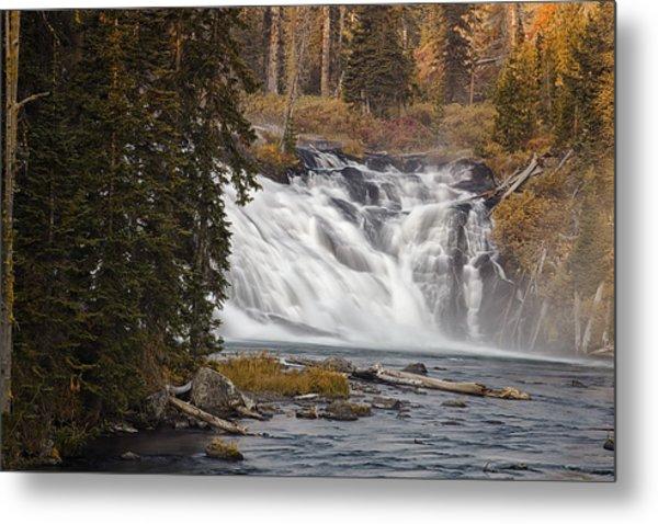 Lewis Falls - Yellowstone Metal Print