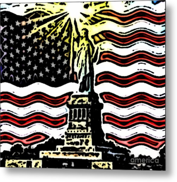 Liberty And Glory Metal Print