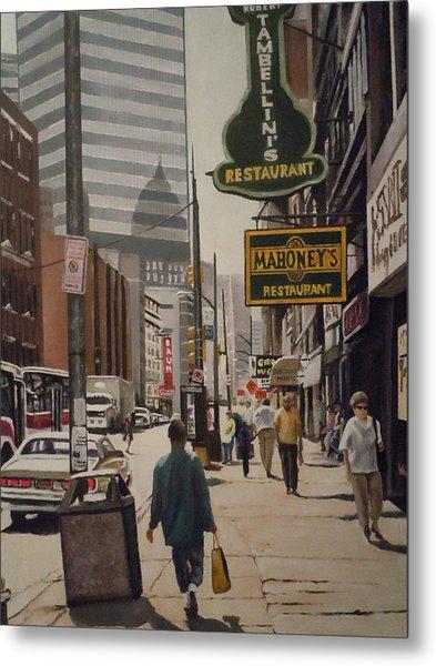 Liberty Avenue In The 80s Metal Print