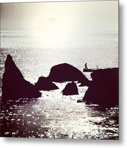 Life By The Seaside #sea #light #italy Metal Print
