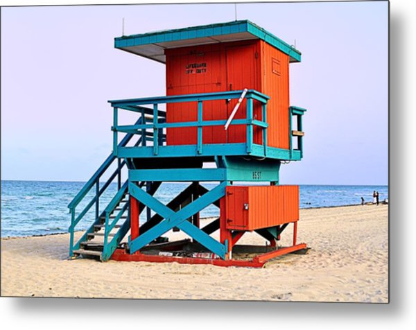 Lifeguard Tower Metal Print by Andres LaBrada