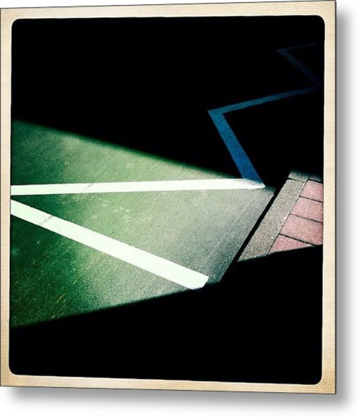 Light And Shadow Triangles Metal Print
