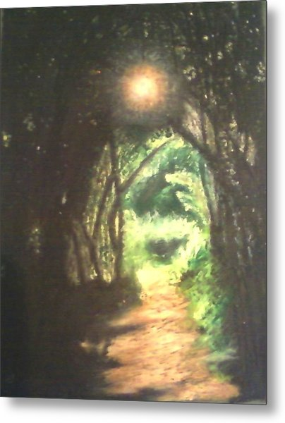 Light At The End Of The Trail Metal Print by Samuel McMullen