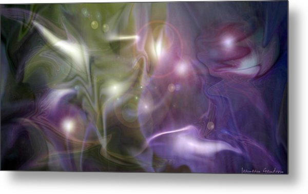 Light Dance Metal Print by Jeanean Gendron
