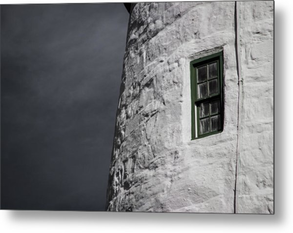 Light House Window Metal Print by Vintage Pix