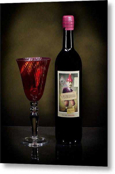 Light Paint Red Wine Metal Print by Noah Katz