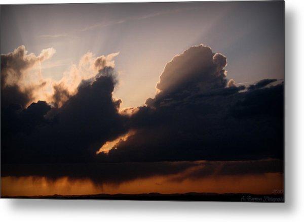 Light Rays And Rainy Skies Metal Print by Aaron Burrows
