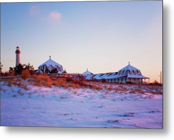 Lighthouse And St Mary's By The Sea Metal Print