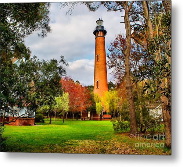 Lighthouse At Currituck Beach Metal Print