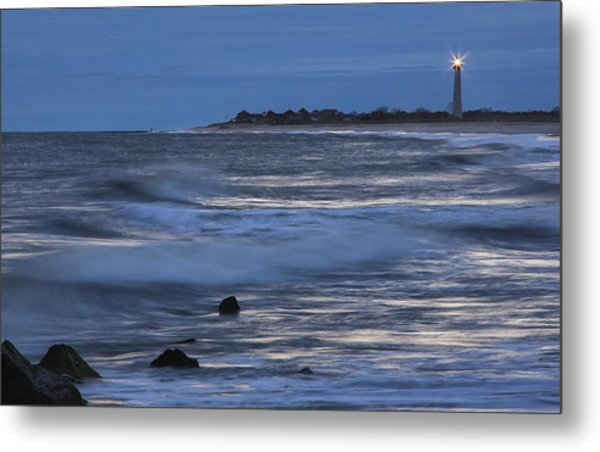 Lighthouse At Twilight Metal Print
