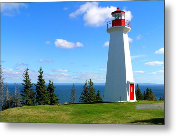 Lighthouse On Nova Scotia Metal Print