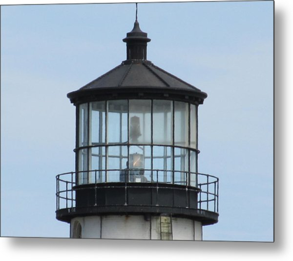 Lighthouse Visit Metal Print by Loretta Pokorny