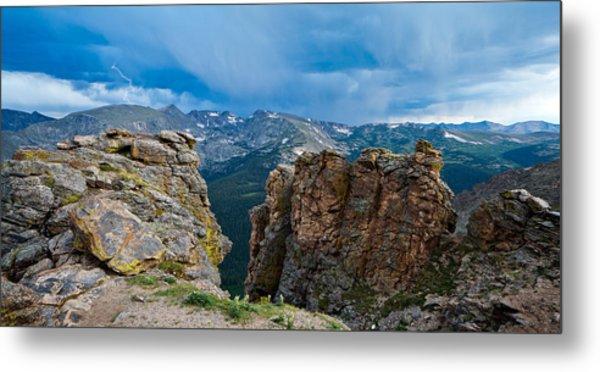 Lightning In Rocky Mountain Metal Print
