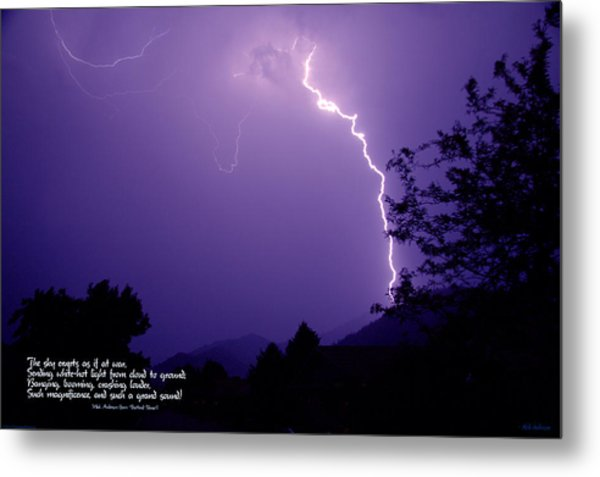 Lightning Over The Rogue Valley Metal Print