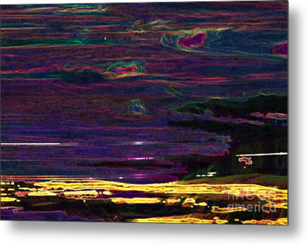 Lights In The Valley Metal Print