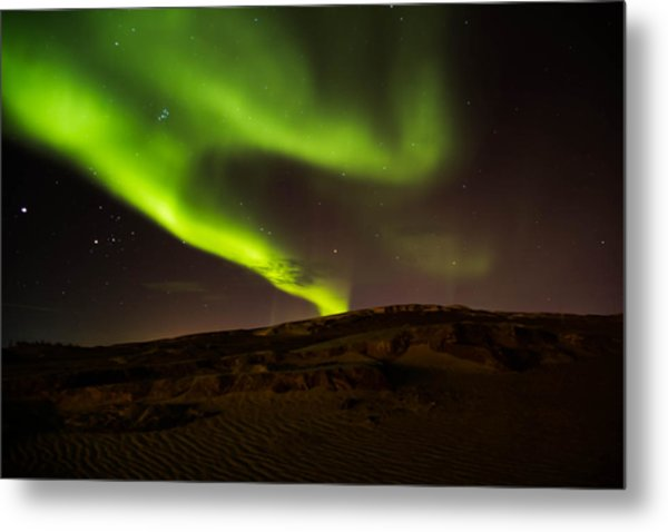 Lights Over The Desert Metal Print