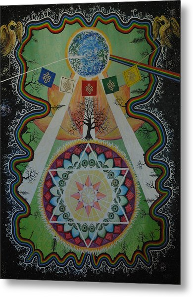 Like A Flower On The Farther Side Of Death Metal Print by Matthew Fredricey