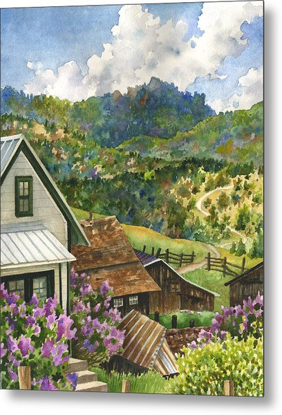 Lilacs At Walker Ranch Metal Print by Anne Gifford