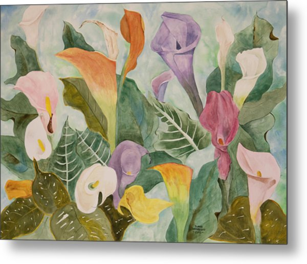 Lillies For Lilly Metal Print by Diane Vasarkovy