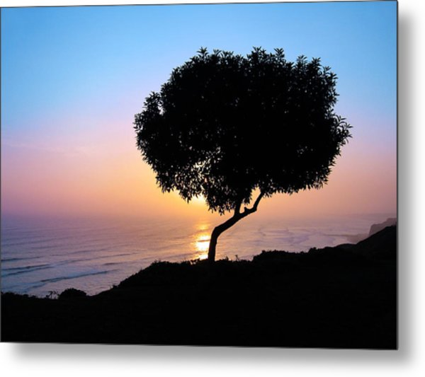 Lima Sunset Metal Print