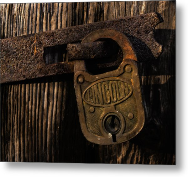 Lincoln Lock Metal Print