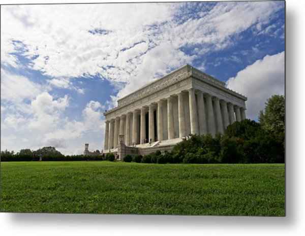 Lincoln Memorial And Sky Metal Print