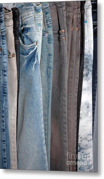 Line Of Jeans Metal Print by Antoni Halim