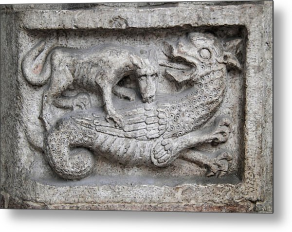 Lion And Dragon Metal Print