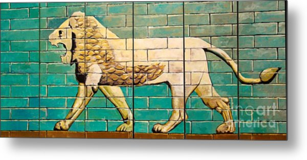 Lion Of Babylon Metal Print by Unknown - Local Iraqi National