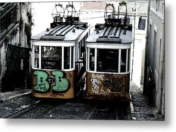 Lisbon Tram Metal Print by Gabriel Calahorra