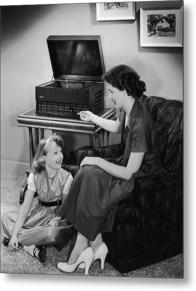 Listen With Mother Metal Print by Archive Photos
