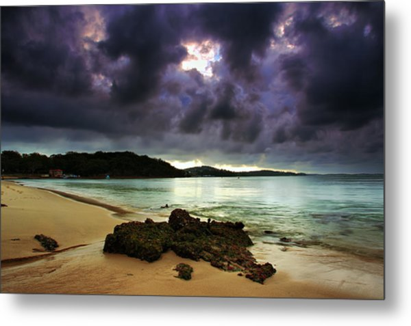 Little Beach Sunset Metal Print