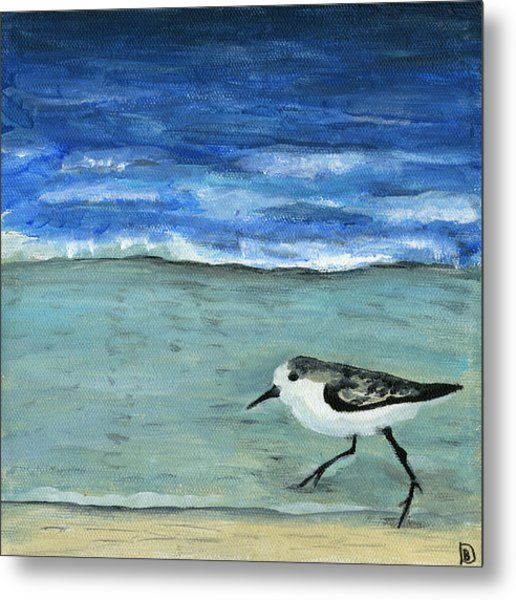 Little Bird At The Beach Metal Print