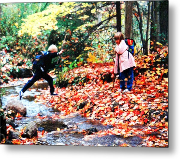 Little Explorers 2 Metal Print