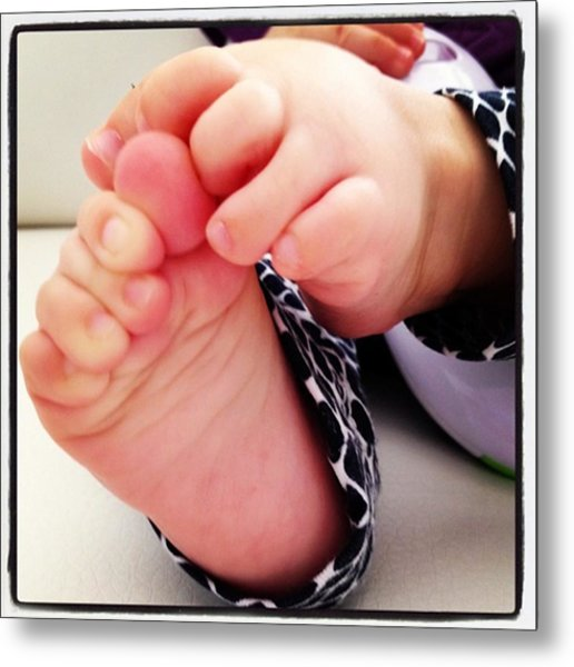 Little Foots Metal Print